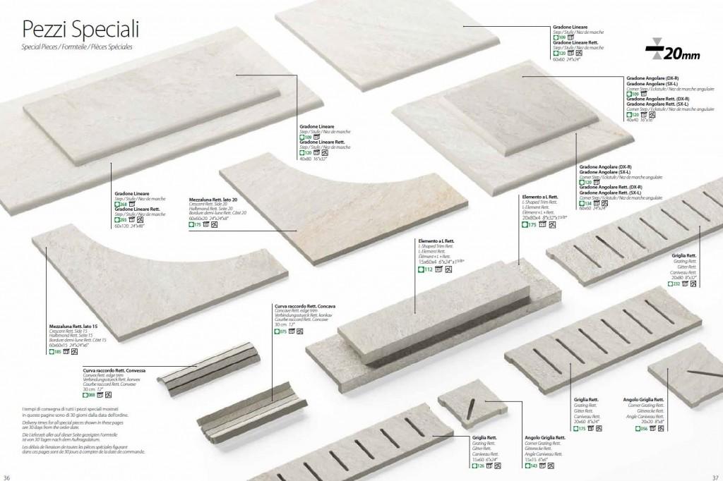 Specialdelar som går att beställa till sitt Klinkerdäck t.ex. poolkant, kantsten avslut, trappor mm