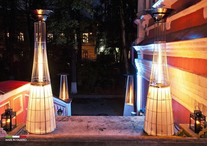 Terrassvärmare med LED belysning från Italkero