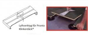 Specialverktyg avsedd för lyft av plattorna till Pronto Klinkerdäck®